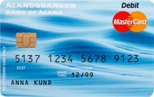 Ålandsbanken - MC-Debit-framsida svenska