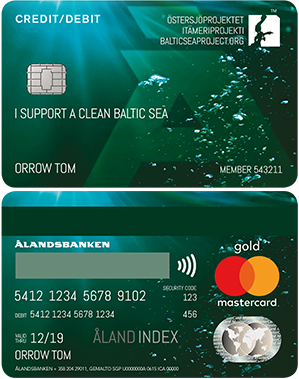 Ålandsbanken - Ostersjoprojektet Credit Debit Card Gold Finland